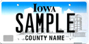 State of Iowa Plate Pam Sprague